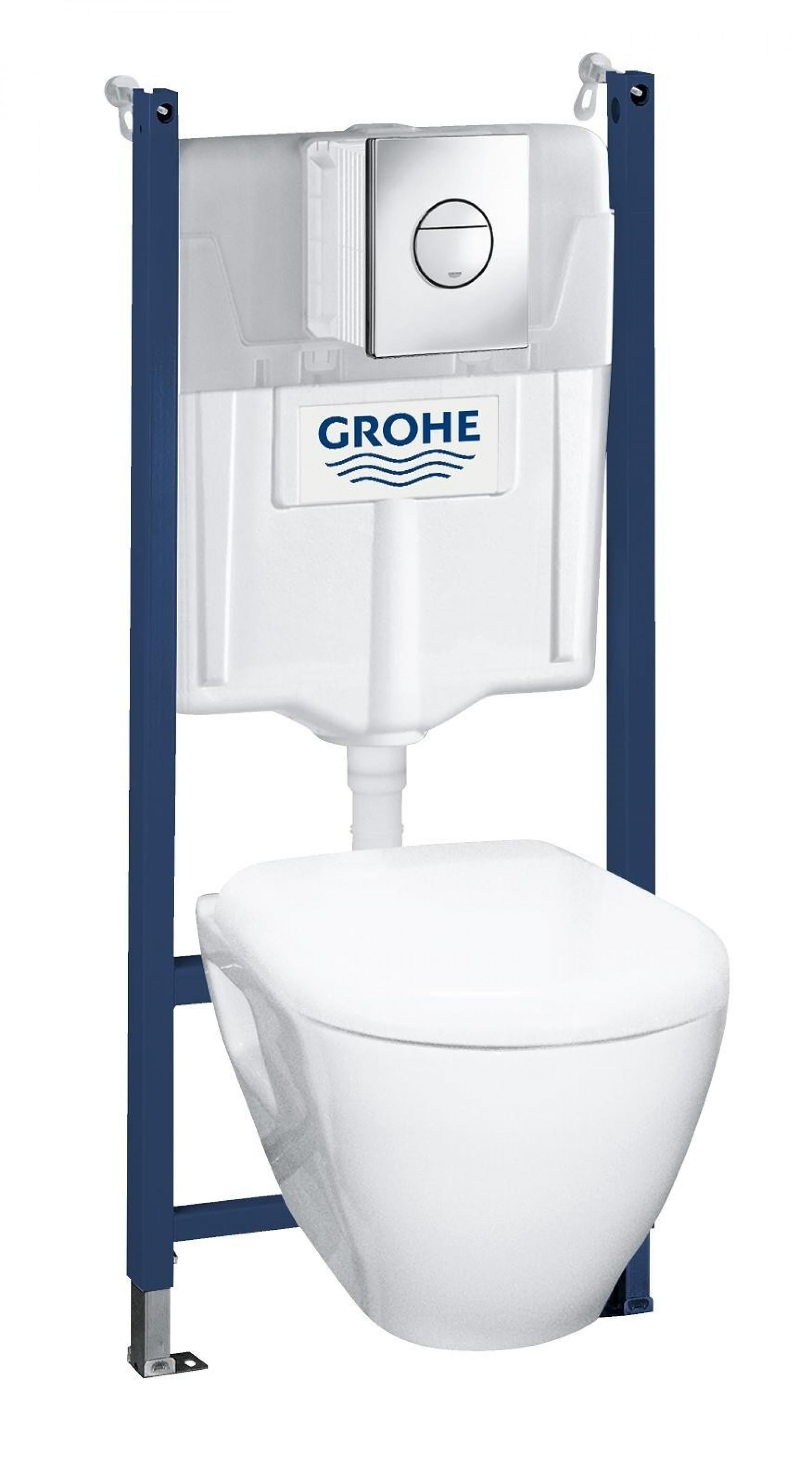 Инсталляция с унитазом и клавишей с сиденьем микролифт  Grohe Solido Ceramic 38950000
